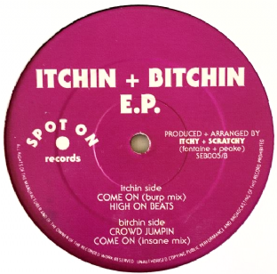 "Itchy & Scratchy ‎- Itchin + Bitchin EP (12"") (G/NM)"